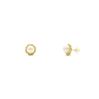 Entwined Pearl Stud Earrings (14K) main - Popular Jewelry - New York