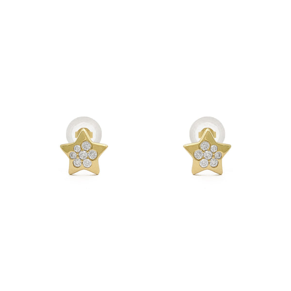 Star Cluster Stud Earrings (14K) front - Popular Jewelry - New York