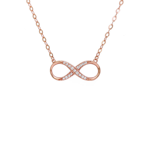 Infinity Charm Necklace (14K) front - Popular Jewelry - New York