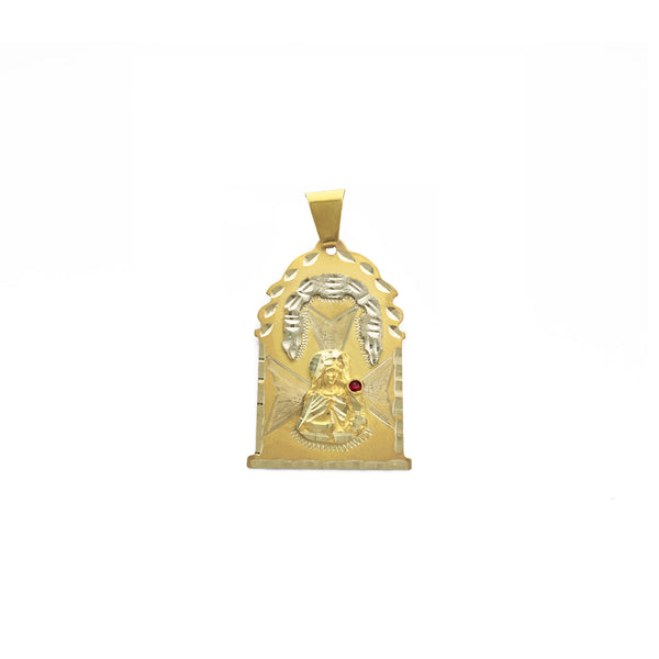 Enshrined Saint Barbara Pendant (14K) front - Popular Jewelry - New York
