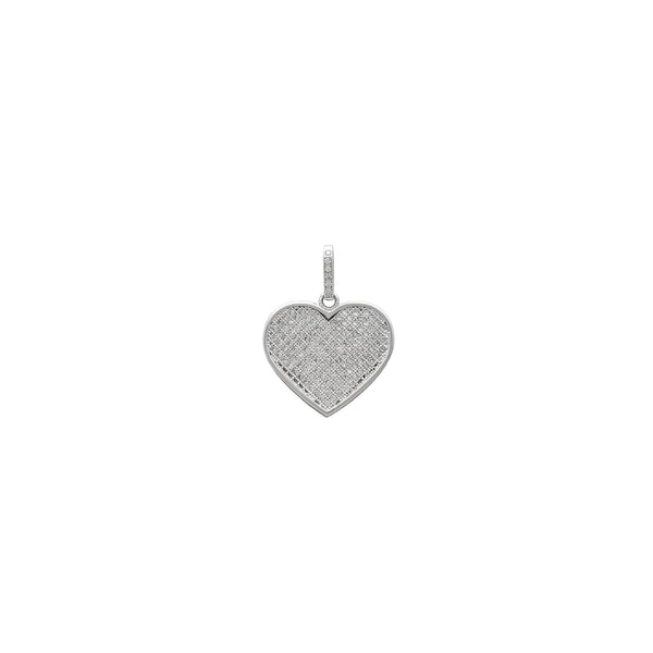 Icy Heart Pendant (14K) front - Popular Jewelry - New York