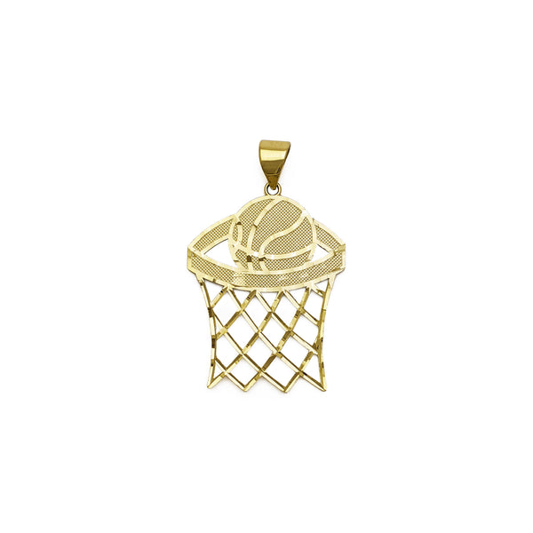 Basketball Hoop Pendant (14K) anteriore - Popular Jewelry - New York