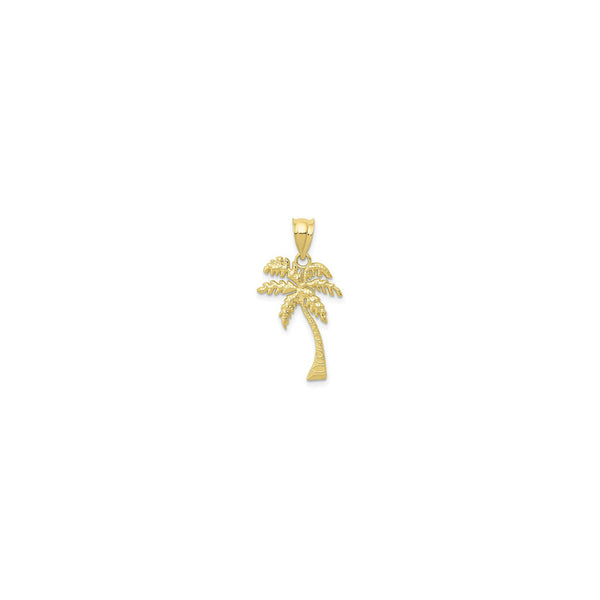 Beach Palm Tree Pendant (14K) front - Popular Jewelry - New York