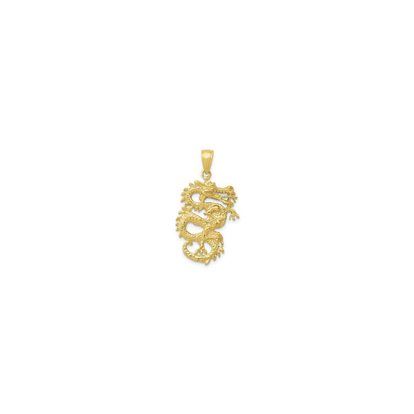 Chinese Dragon Pendant (14K) front - Popular Jewelry - New York