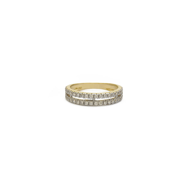 Double Row Half Eternity Ring (14K)