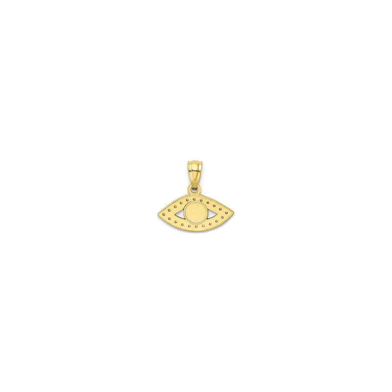 Evil Eye Pendant (14K) back - Popular Jewelry - Њујорк