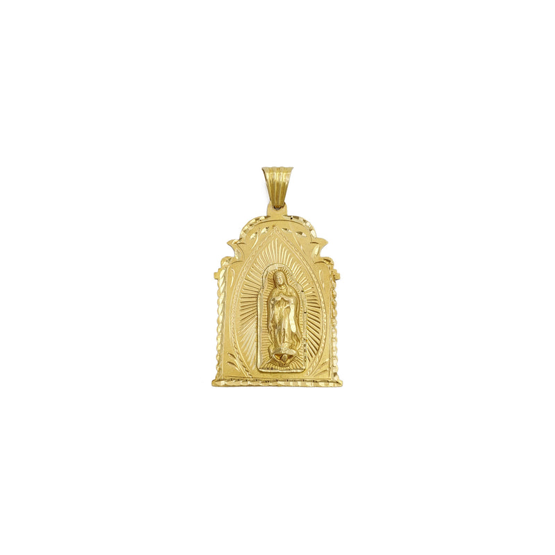 Guadalupe Vintage Shrine Pendant (14K) front - Popular Jewelry - New York