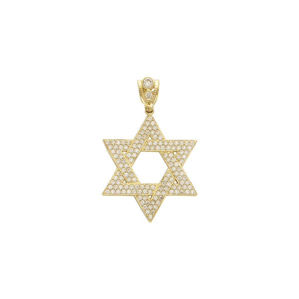 Iced- Out Classic Star of David Pendant (14K) front - Popular Jewelry - New York
