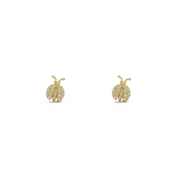 Icy Ladybug Stud Ouerréng (14K) viischt - Popular Jewelry - New York