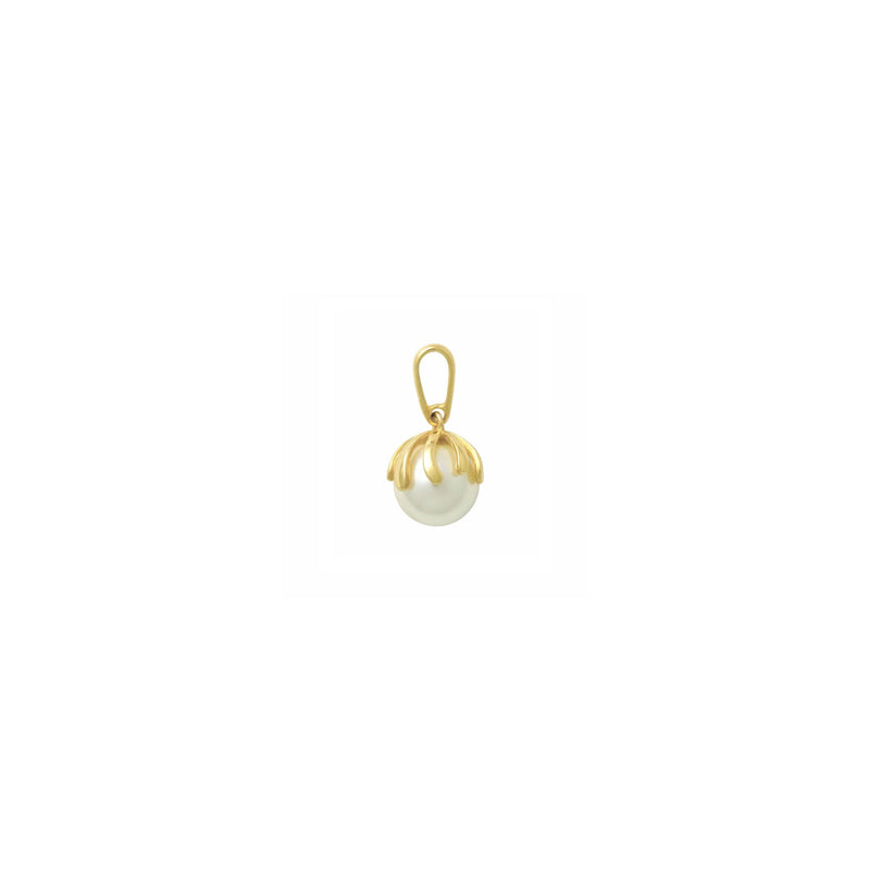 Lush Pearl Pendant (14K)  side - Popular Jewelry - New York