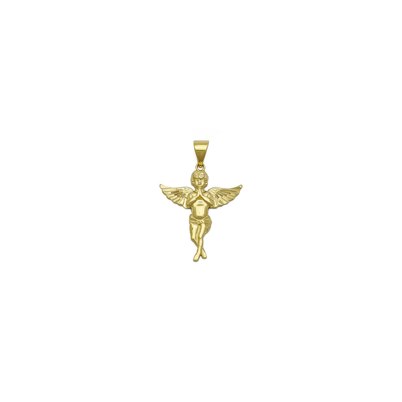 Praying Baby Angel Accented Pendant (14K) front - Popular Jewelry - New York