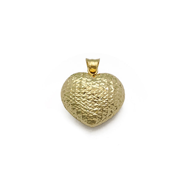 Puffy Glam Heart Pendant Large (14K) față - Popular Jewelry - New York