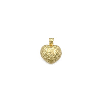 Quilted Glam Heart Pendant (14K) front - Popular Jewelry - New York