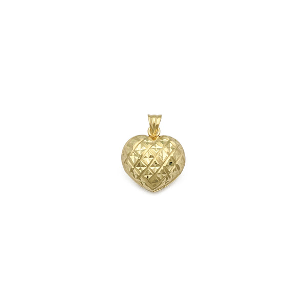 Pendente trapuntato Glam Heart (14K) anteriore - Popular Jewelry - New York