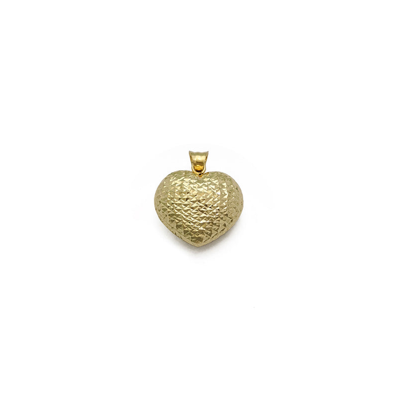 Puffy Glam Heart Pendant Small (14K) voorkant - Popular Jewelry - New York