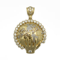 The World Is Mine Icy Pendant(14K)front- Popular Jewelry - ニューヨーク