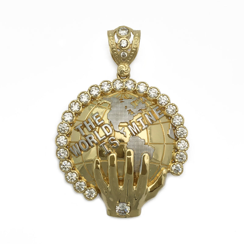 The World Is Mine Icy Pendant (14K) front - Popular Jewelry - New York