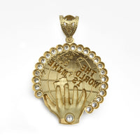 The World Is Mine Icy Pendant (14K) side - Popular Jewelry - New York