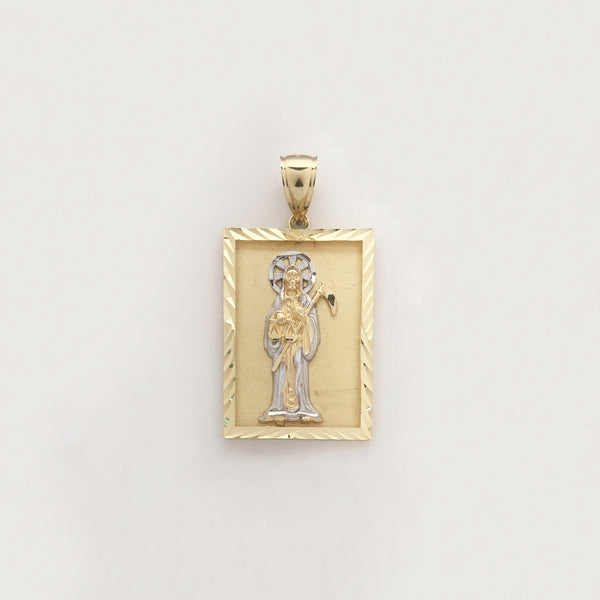 Santa Muerte Diamond Cut Framed Pendant (14K) - Popular Jewelry - Նյու Յորք