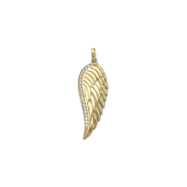Pandantiv Angel Wing CZ (14K) față - Popular Jewelry - New York