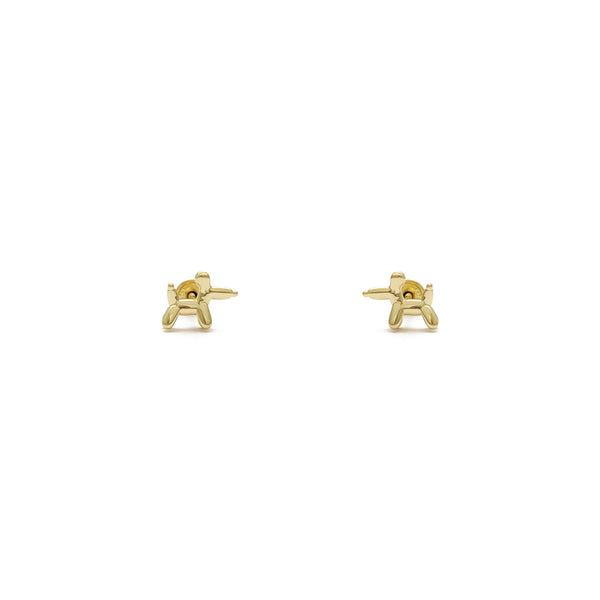 Balloon Dog Stud Earrings (14K) front - Popular Jewelry - New York
