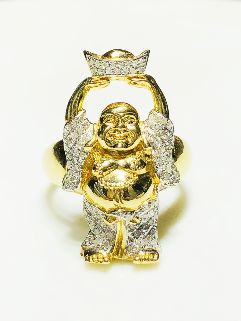 products/585_14_Karat_Yellow_Gold_Chinese_Laughing_Buddha_Holding_Ingot_Over_Head_iced_out_diamond_micro_pave_setting_standing_angle_view_web_product_Popular_Jewelry.png