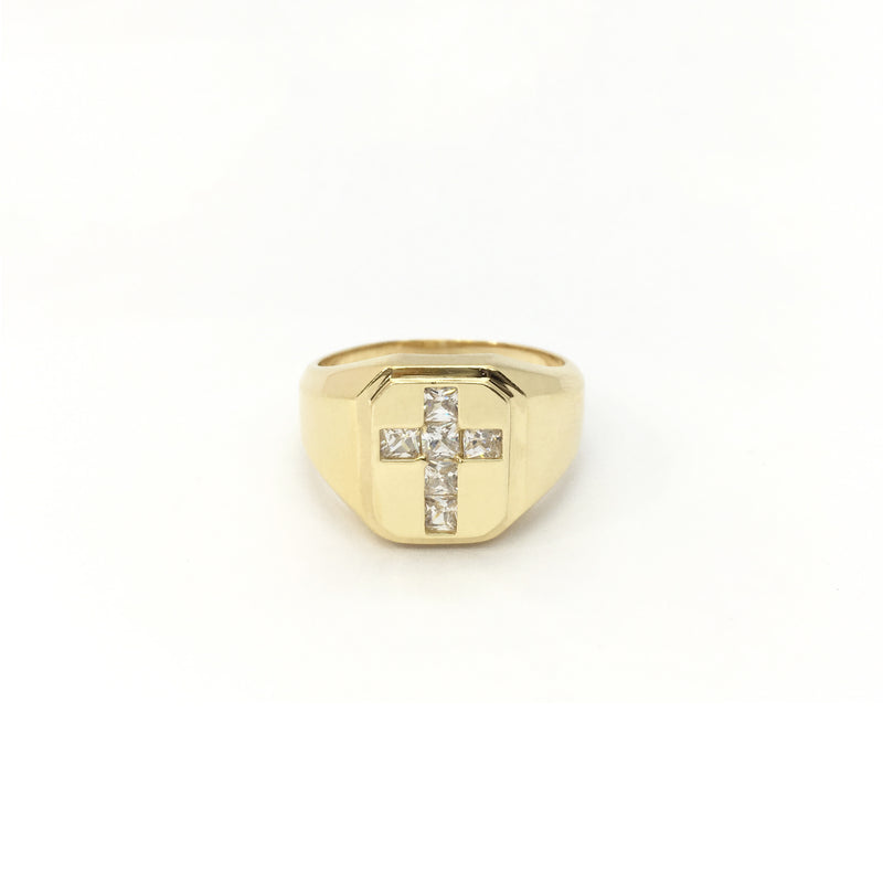 products/585_14_Karat_Yellow_Gold_Cross_Cubic_Zirconia_Signet_Ring_front_angle_view_web_product_Popular_Jewelry_New_York.jpg