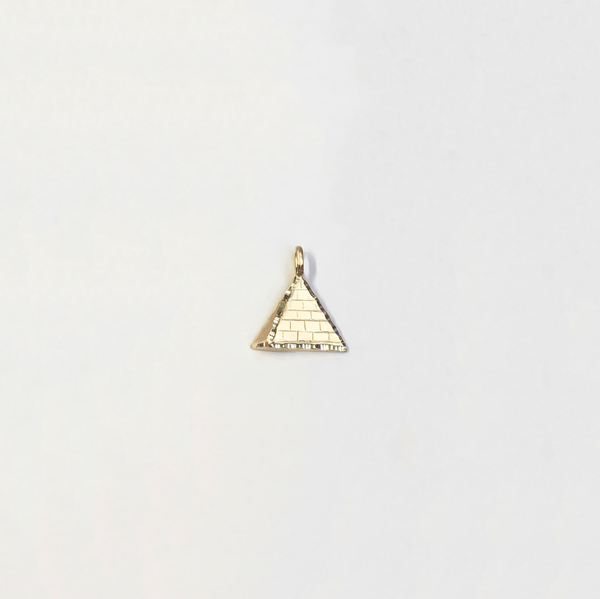 Egyptian Pyramid Diamond Cut Pendant (14K) (Small Size) - Popular Jewelry New York