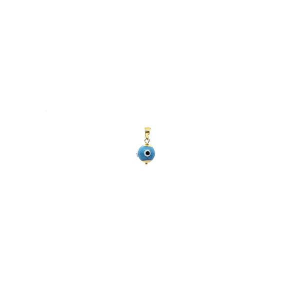 Evil Eye Ball Colgante de cor azul claro (14K) - Popular Jewelry - Nova York