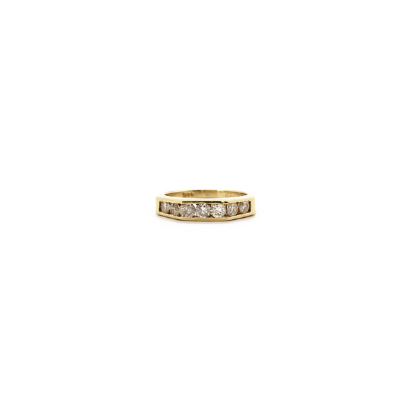 Geometric Diamond Channel Ring (14K) front 1 - Popular Jewelry - New York