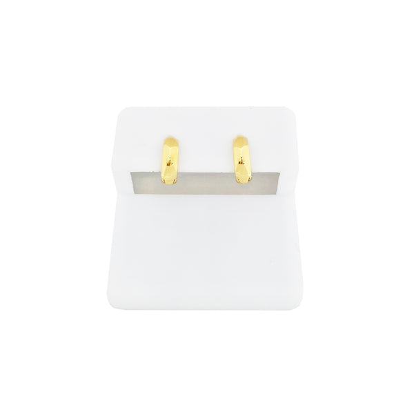 Huggie Earrings Plain (14K)