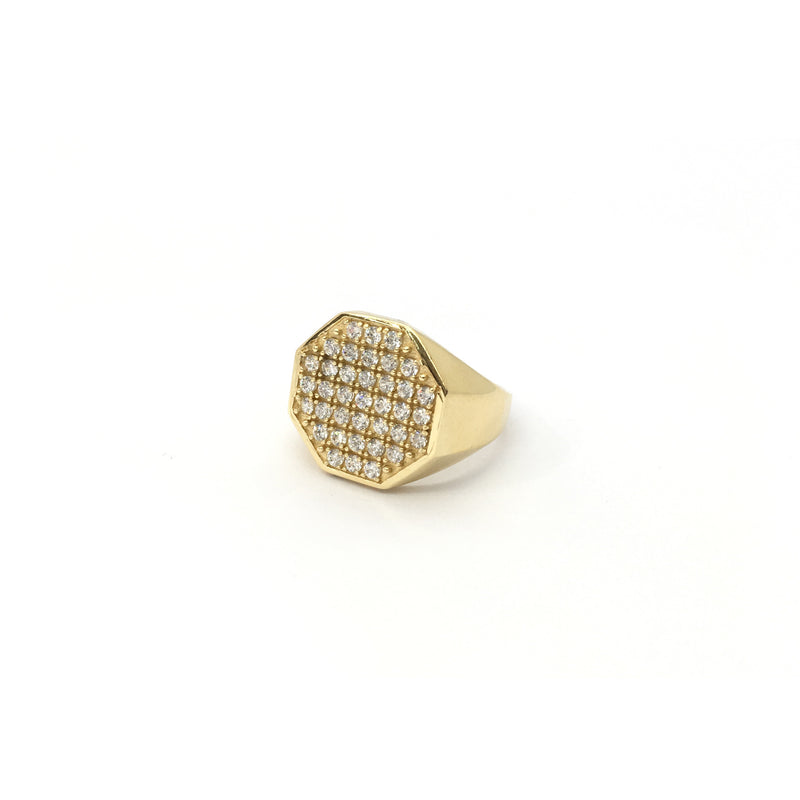 products/585_14_Karat_Yellow_Gold_Iced_Octagonal_Signet_Cubic_Zirconia_Ring_diagonal_angle_view_web_product_Popular_Jewelry_New_York.jpg