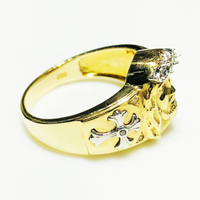 İsa Head Crown Ring 14K Sarı Qızıl