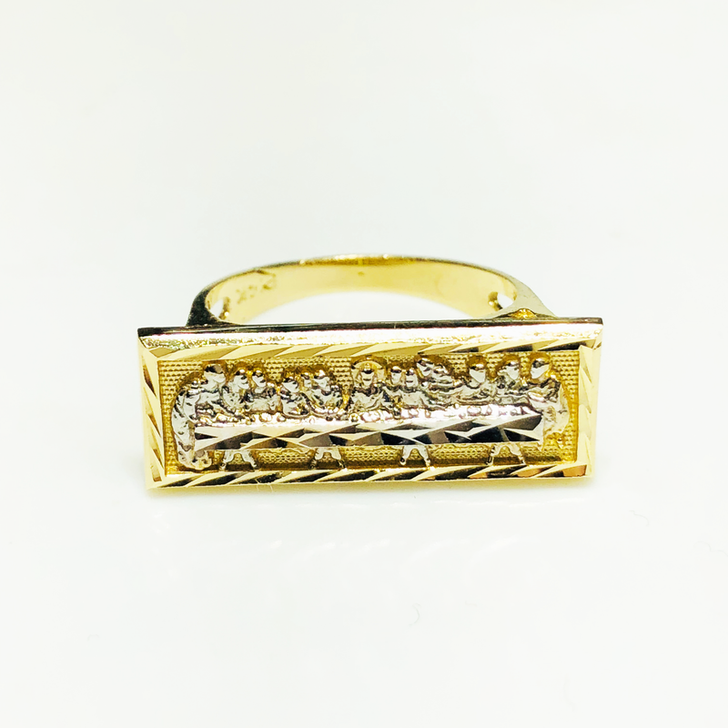 products/585_14_Karat_Yellow_Gold_Last_Supper_Diamond_Cut_Ring_standing_angle_view_web_product_Popular_Jewelry.png