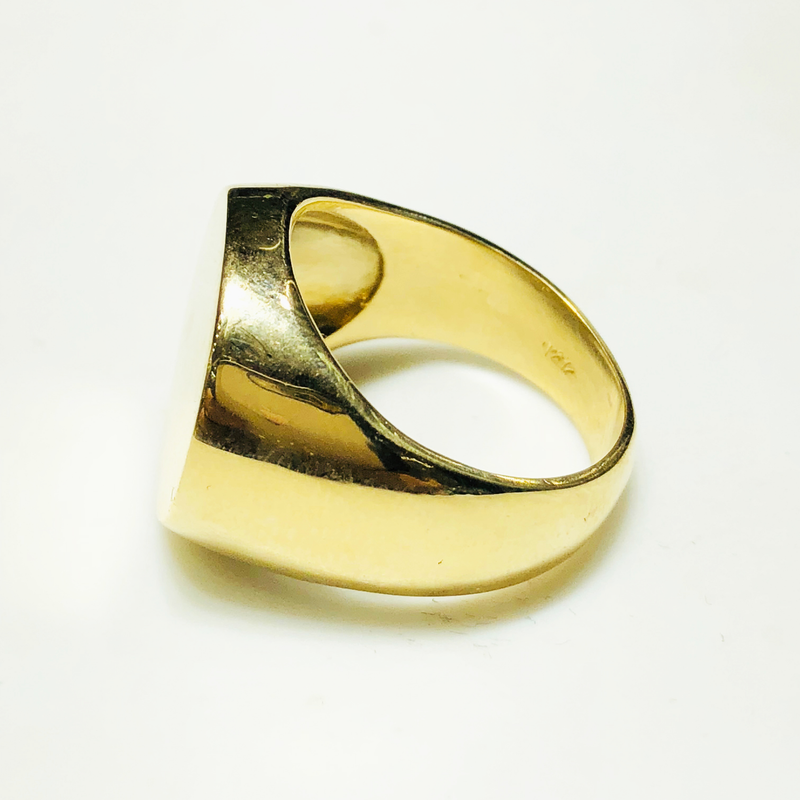 Custom Circle Signet Ring (Gold) (Silver)