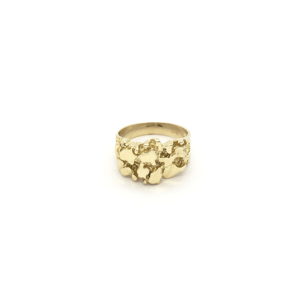 Slim Nugget Ring (14K) front - Popular Jewelry - New York