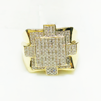 Squares Diamond Ring 14K Yellow Gold