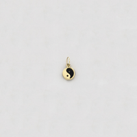 Vintage Yin Yang Black Onyx Charm (14K) - Popular Jewelry New York