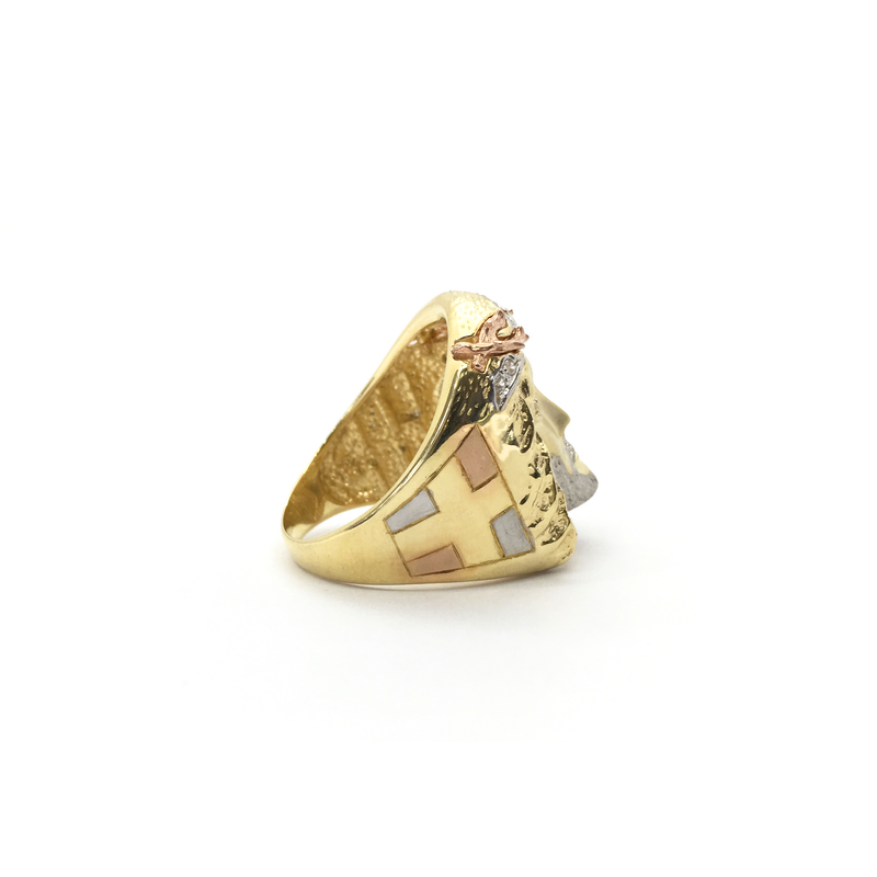 products/585_14_karat_Tri-Color_Gold_Crown_of_Thorns_Jesus_Head_Cubic_Zirconia_Ring_side_2_angle_view_web_product_Popular_Jewelry_New_York.png