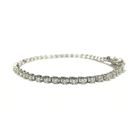 Round Diamond Tennis Four-Prong Bracelet (14K) front - Popular Jewelry - New York