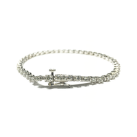 Round Diamond Tennis Four-Prong Bracelet (14K) lock - Popular Jewelry - New York
