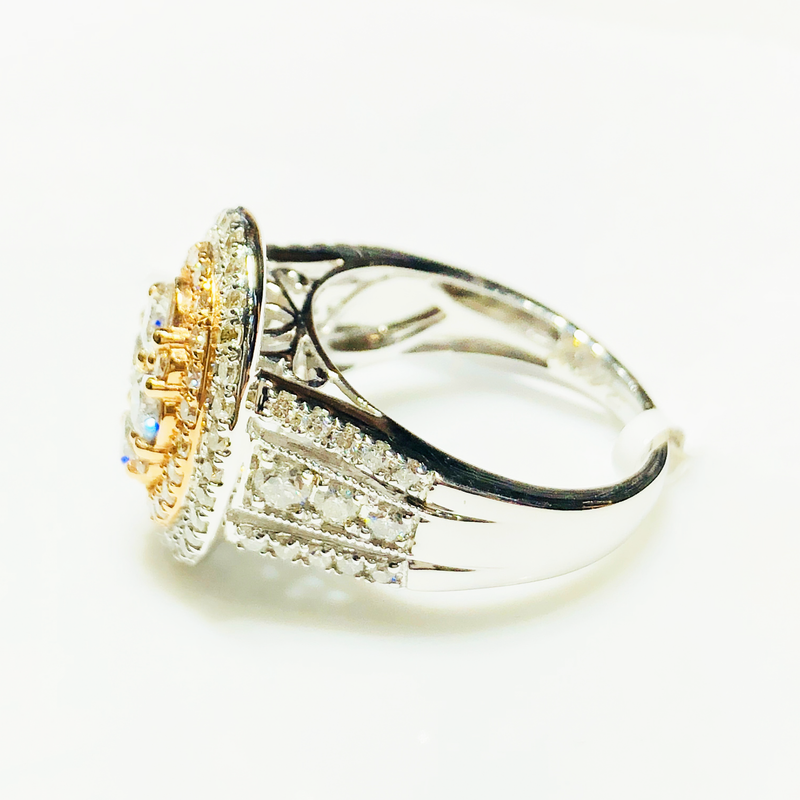 Diamond Cluster Cocktail Ring (14K) - Popular Jewelry