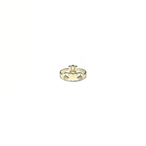 Bague Claddagh (14K) avant - Popular Jewelry - New York