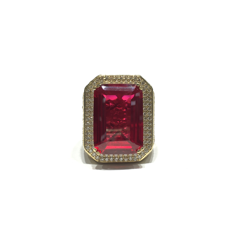 products/585_14_karat_Yellow_Gold_Men_s_Fashionable_Red_Emerald_Shaped_Stone_Cubic_Zirconia_Ring_front_angle_view_web_product_Popular_Jewelry_New_York.png
