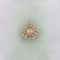 Crab (Cancer Zodiac Sign) Diamond Cut Pendant (14K) - Popular Jewelry