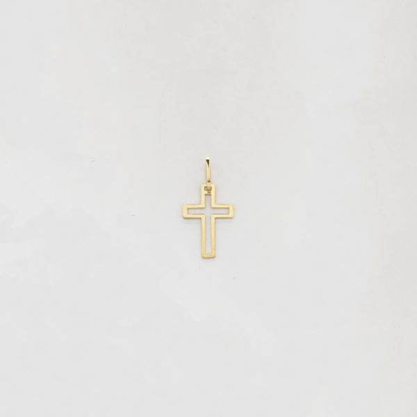 Plain Cross Line Lineend (14K) - Popular Jewelry