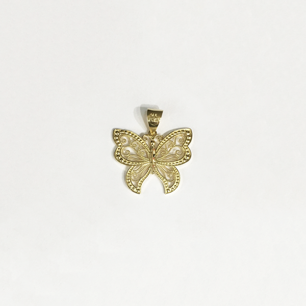 Fairy Butterfly Pendant (14K) Gold - Popular Jewelry - New York