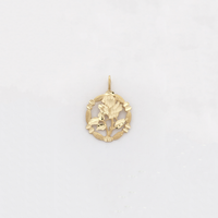 Rose Diamond Cut Charm Pendant (14K) - Popular Jewelry