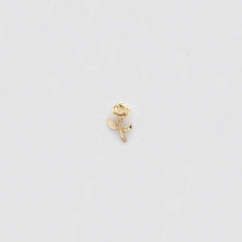 Rose Diamond Cut Pendant (14K) - Popular Jewelry