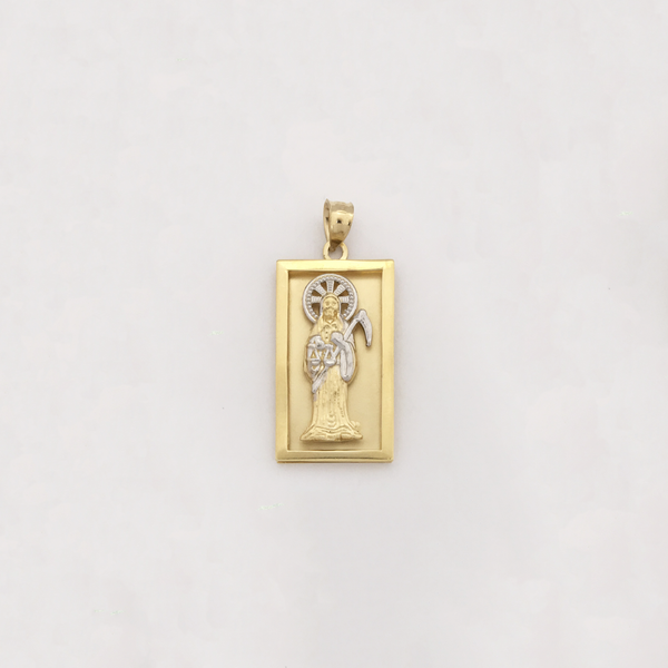 Privjesak s šarmom Santa Muerte (14K) - Popular Jewelry